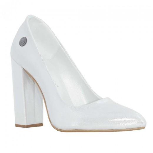 mammamia D18YA-555 Topuklu Kadın Ayakkabı BEYAZ