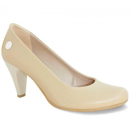 mammamia D19YA-4670 Topuklu Kadın Ayakkabı BEJ