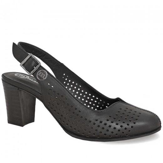 mammamia D19YS-1085 Deri Kadın Ayakkabı SIYAH