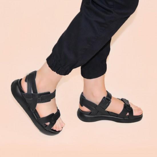 Stella 21658 Cırtlı Deri Kadın Sandalet