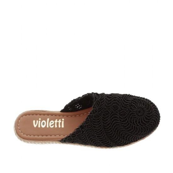 Violetti 8004 Örgü Kadın Terlik